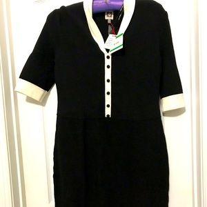 NWT Anne Klein black and white dress size L